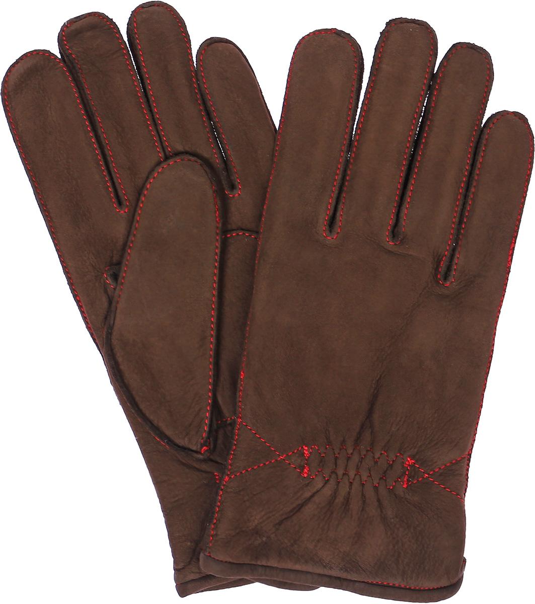 Перчатки мужские Dali Exclusive, цвет: коричневый, красный. N12_TORM. Размер 9N12_TORM/R.DBR//11Мужские перчатки Dali Exclusive не только защитят ваши руки, но и станут великолепным украшением. Перчатки выполнены из натурального нубука, а подкладка - из высококачественной шерсти. Модель оформлена декоративными прострочками.