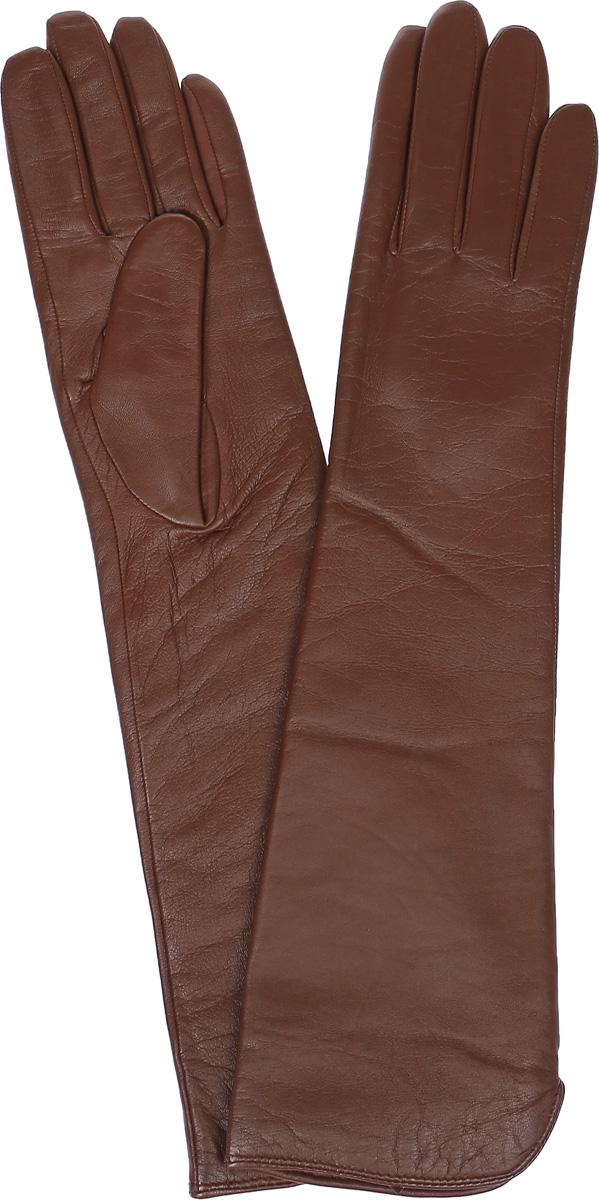 Перчатки женские Labbra, цвет: коричневый. LB-2002. Размер 7LB-2002Женские перчатки Labbra выполнены из натуральной кожи ягненка. Они мягкие, максимально сохраняют тепло, идеально сидят на руке. Удлиненные перчатки изготовлены на подкладке из натуральной шерсти с добавлением акрила. Модель выполнена в лаконичном дизайне.