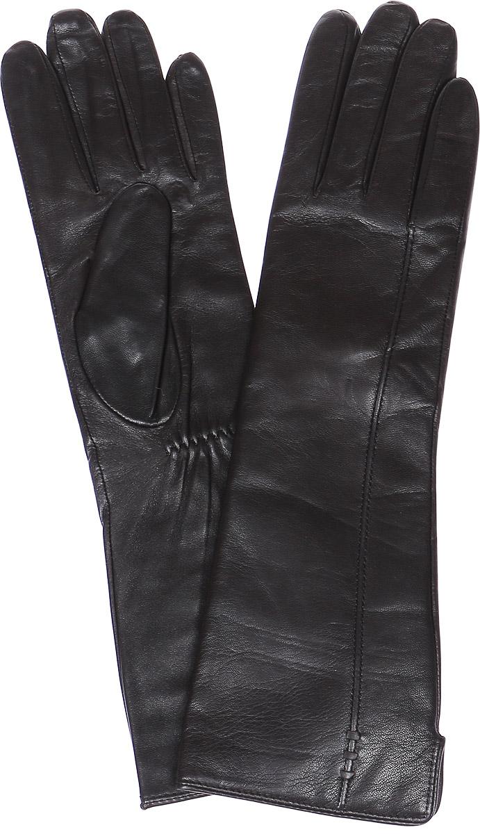 Перчатки женские Labbra, цвет: темно-серый. LB-0195. Размер 7LB-0195Стильные женские перчатки Labbra выполнены из натуральной кожи и дополнены эластичными резинками, которые надежно зафиксируют модель на запястье. Удлиненная модель оформлена декоративной прострочкой. Внутренняя поверхность выполнена из шерсти и акрила, которые обеспечат тепло и комфорт.
