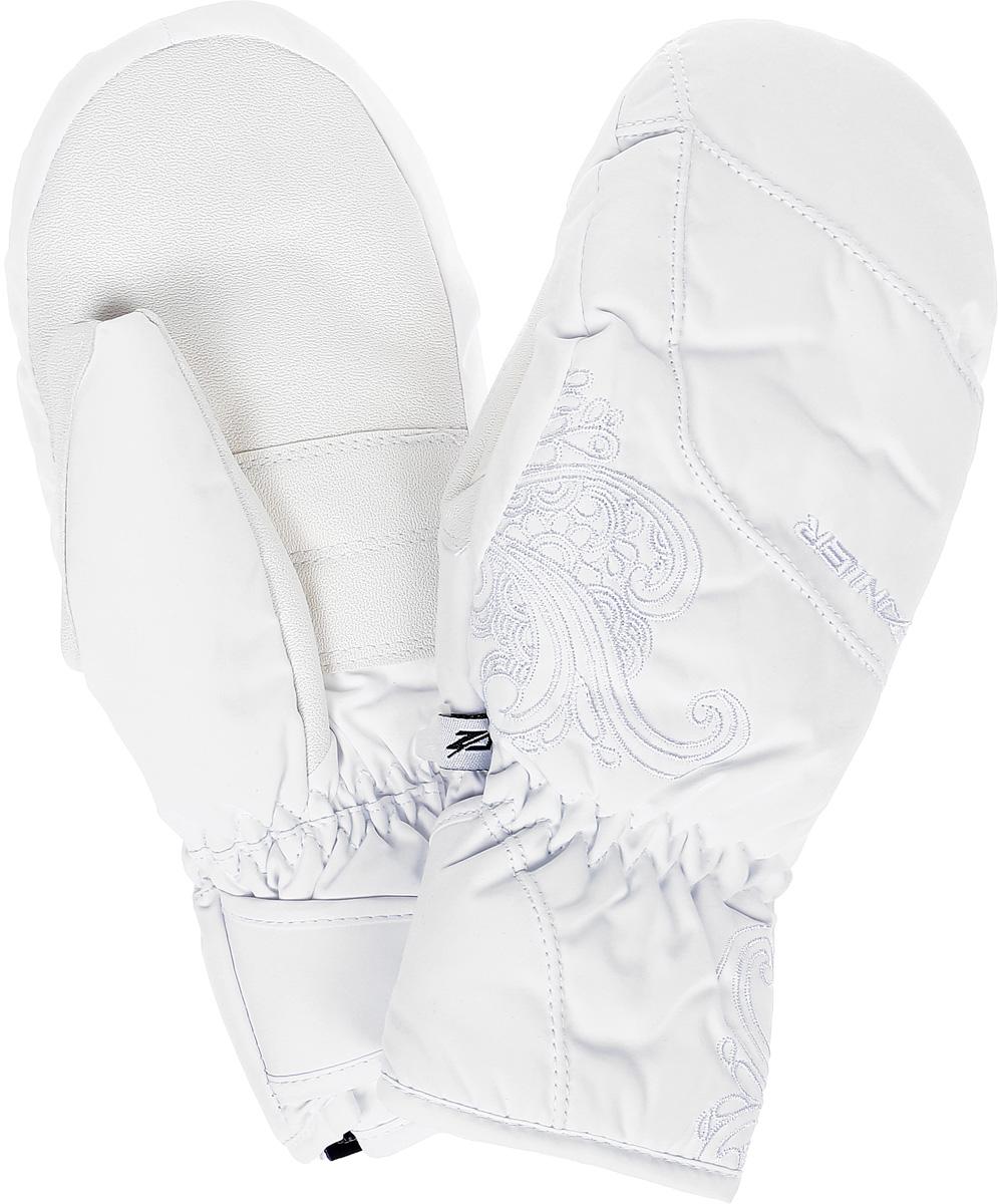 Рукавицы горнолыжные женские ZANIER MILS.ZX DA, цвет: белый. 17052_10. Размер S17052_10Рукавицы женские MILS.ZX DAРукавицы предназначены для занятий активными видами спорта и для носки в городе в холодную погоду. - Анатомический крой- Усиление большого пальца- Резинка по запястью- Дополнительное утепление в области пальцев, что очень важно так как рукавицы предназначены для женщин- Внутреннее выделение пальцев- Внутреннее усиление в области пальцев для прочности - Мембрана ZA TEX обеспечивает защиту от намокания, отведение влаги и сохраняет руки сухими и теплыми во время занятий спортом - Утеплитель Primaloft - синтетический аналог пуха очень теплый, легкий и мягкий - Обладает дышащими свойствами, которые сохраняет даже будучи влажным - Не вызывает аллергииАвстрийская компания ZANIER производит аксессуары для активных видов спорта более 30 лет и на сегодняшний день является лидером продаж на Австрийском рынке и входит в четверку сильнейших производителей Европы. Перчатки ZANIER надежны, разработаны и протестированы в горах профессиональными спортсменами. Компания является официальным поставщиком сборной команды Австрии по сноуборду.