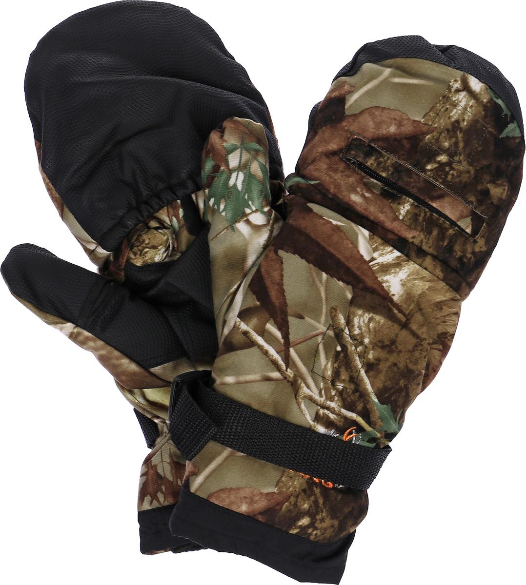 Перчатки-варежки мужские Norfin, цвет: лес. 761. Размер XL (10)761-PПерчатки-варежки Norfin защитят ваши руки. Они хорошо сохраняют тепло, мягкие, идеально сидят на руке. Перчатки-варежки в области ладони и с внутренней стороны большого пальца выполнены из водоотталкивающего материала, внутри выполнены из флиса. Изделие представляет собой перчатки без пальцев, к внешней стороне которых крепится капюшон, накинув его на пальцы, перчатки превращаются в варежки.На запястье имеется эластичная вставка.