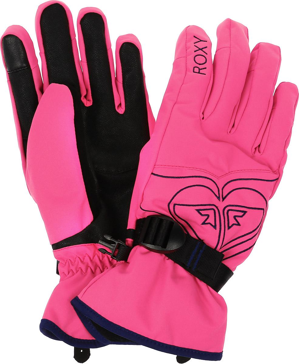 Перчатки женские Roxy Popy Gloves, цвет: розовый, черный. ERJHN03033-MLR0. Размер M (7/7,5)ERJHN03033-MLR0Женские перчатки Roxy Popy Gloves выполнены из высококачественного полиэстера и полиуретана, которые не пропускают воду. Модель оформлена фирменными вышивками и декоративной прострочкой. Перчатки дополнены эластичными резинками и хлястиком с пряжкой, которые надежно зафиксируют модель на запястье, не сдавливая его. Внутренняя поверхность выполнена из мягкого утепленного полиэстера. Также перчатки оснащены застежкой-фастексом.