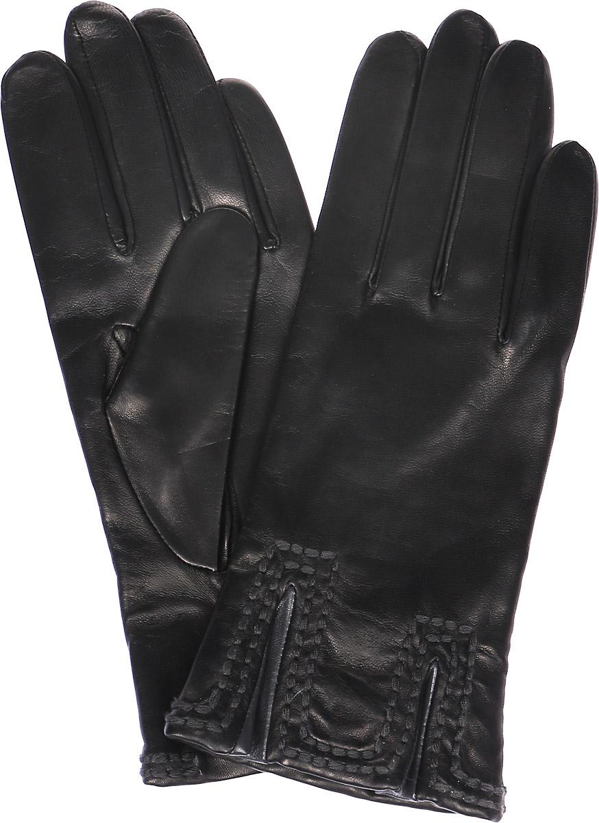 Перчатки женские Michel Katana, цвет: черный. K11-CHAMPE. Размер 7,5K11-CHAMPE/BL.GRЖенские перчатки Michel Katana не только защитят ваши руки, но и станут великолепным украшением. Перчатки выполнены из натуральной кожи, а подкладка - из высококачественной шерсти. Модель оформлена декоративными прострочками.