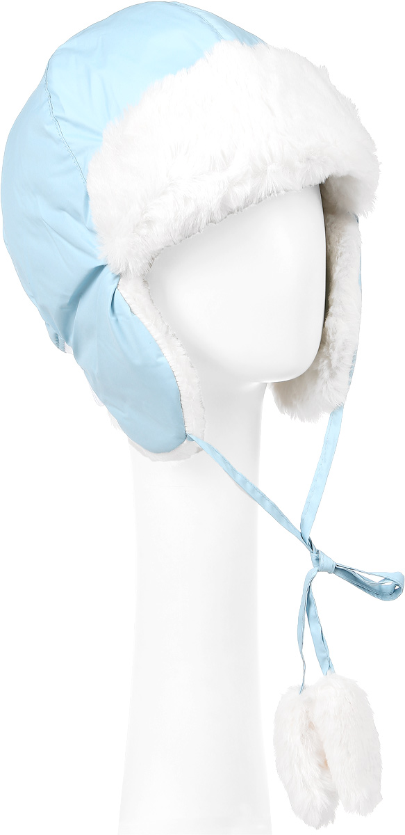 Шапка-ушанка для девочки PlayToday Sports, цвет: голубой. 362131. Размер 54, 7-8 лет362131Утепленная шапка-ушанка для девочки PlayToday Sports выполнена из высококачественного полиэстера, подкладка - мягкий флис. Модель имеет небольшие ушки с завязками, на концах которых расположены помпоны из искусственного меха. Сзади расположена трикотажная резинка, обеспечивающая удобную посадку.Уважаемые клиенты! Обращаем ваше внимание на тот факт, что размер, доступный для заказа, является обхватом головы.