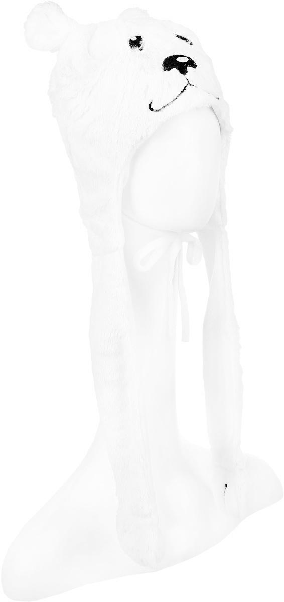 Шапка для девочки PlayToday, цвет: молочный. 362135. Размер 50, 3-4 года362135Шапка для девочки PlayToday изготовлена из искусственного меха и имеет подкладку из мягкого флиса. Модель выполнена в виде мордочки медвежонка и дополнена декоративными лентами-ушками с лапками на концах. Шапка оснащена завязками. Уважаемые клиенты! Обращаем ваше внимание на тот факт, что размер, доступный для заказа, является обхватом головы.