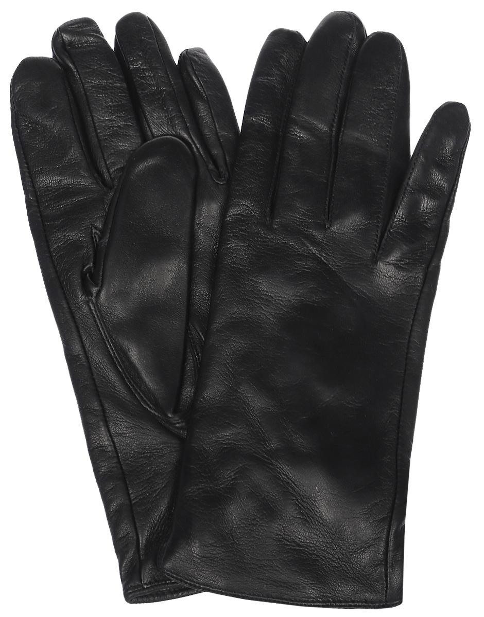 Перчатки мужские Eleganzza, цвет: черный. HP68980. Размер 8HP68980Мужские перчатки Eleganzza выполнены из натуральной гладкой кожи и дополнены сборкой, которая надежно зафиксирует модель на запястье. Внутренняя поверхность выполнена из шерсти и кашемира, которые обеспечат тепло и комфорт.
