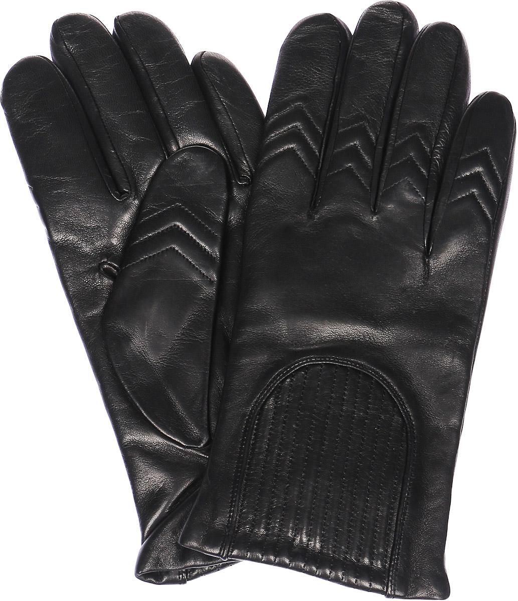 Перчатки мужские Michel Katana, цвет: черный. K11-CAVILE. Размер 8K11-CAVILE/BLМужские перчатки Michel Katana не только защитят ваши руки, но и станут великолепным украшением. Перчатки выполнены из натуральной кожи, а подкладка - из высококачественной шерсти. Модель оформлена декоративными прострочками.