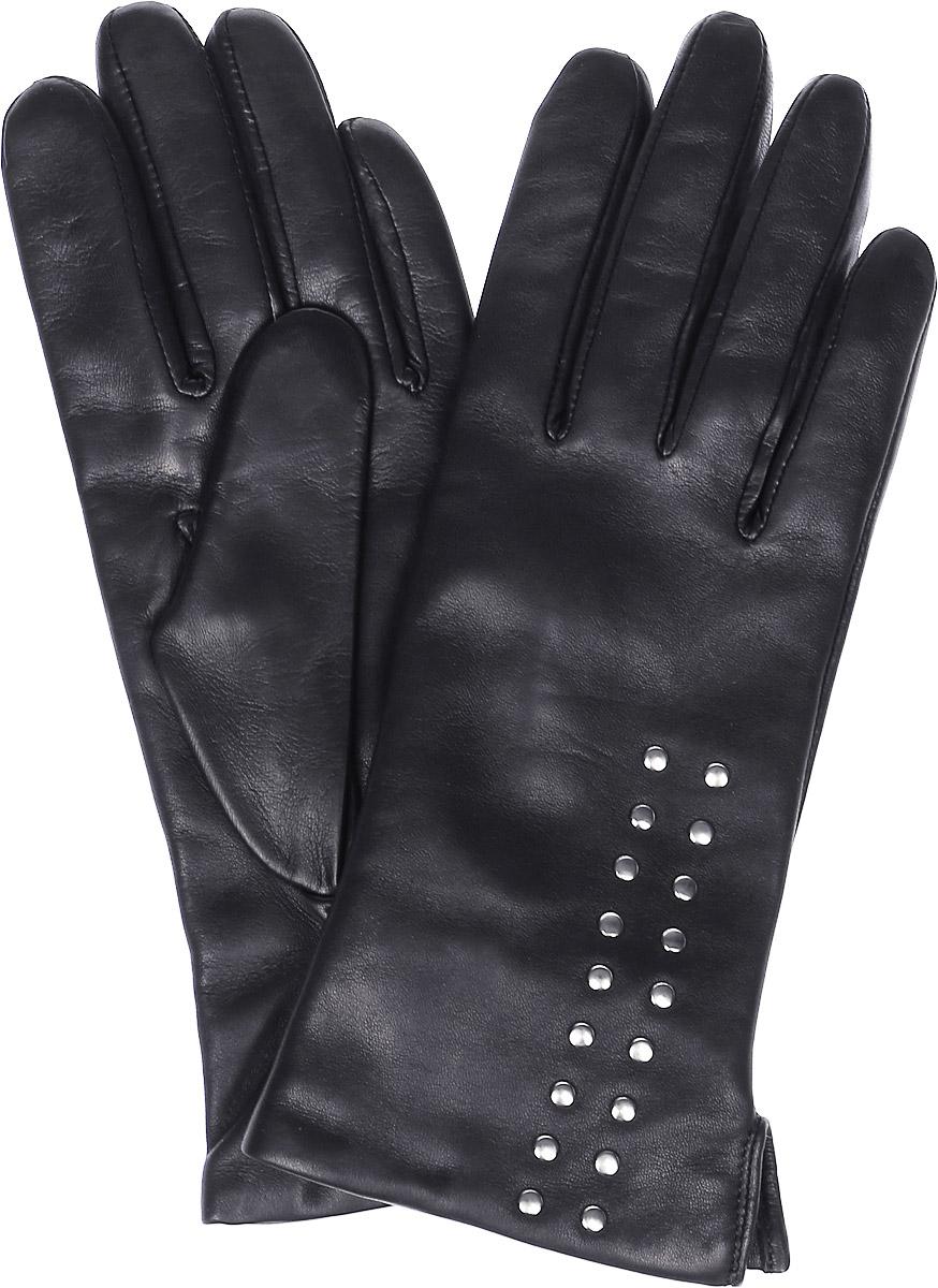 Перчатки женские Michel Katana, цвет: черный. K11-BOTONY. Размер 7K11-BOTONY/BLЖенские перчатки Michel Katana не только защитят ваши руки, но и станут великолепным украшением. Перчатки выполнены из натуральной кожи, а подкладка - из высококачественной шерсти. Модель оформлена декоративными кнопками.