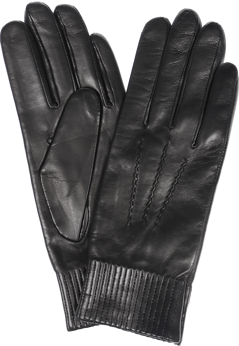 Перчатки женские Michel Katana, цвет: черный. K11-VILIENE. Размер 6,5K11-VILIENE/BLЖенские перчатки Michel Katana не только защитят ваши руки, но и станут великолепным украшением. Перчатки выполнены из натуральной кожи, а подкладка - из высококачественной шерсти. Модель оформлена декоративными прострочками.