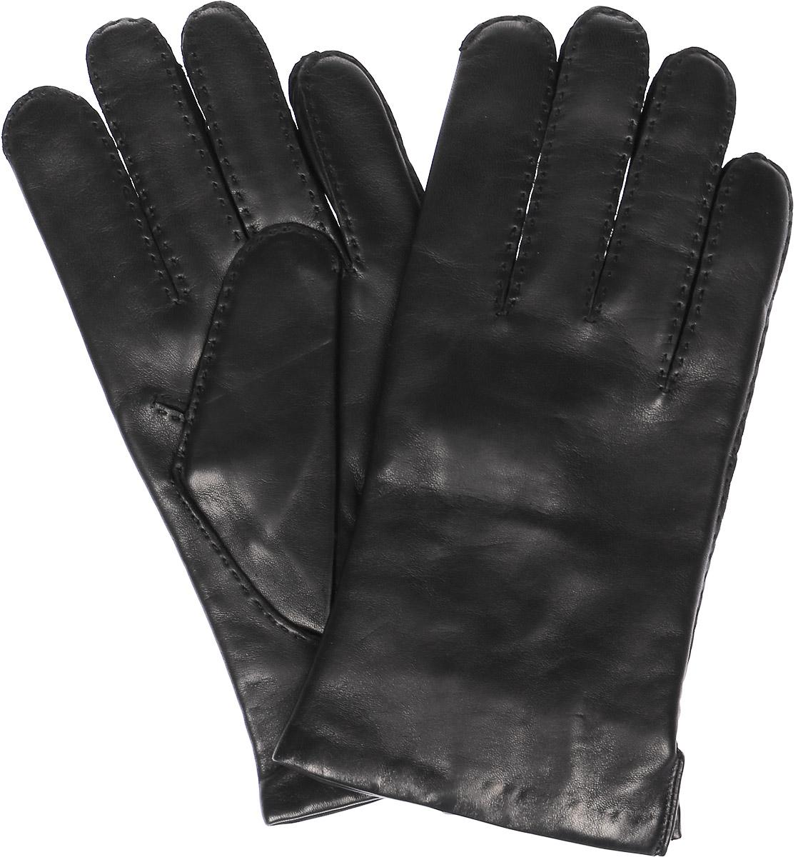 Перчатки мужские Michel Katana, цвет: черный. K11-PORINGE. Размер 9K11-PORINGE/BLМужские перчатки Michel Katana не только защитят ваши руки, но и станут великолепным украшением. Перчатки выполнены из натуральной кожи, а подкладка - из высококачественной шерсти.