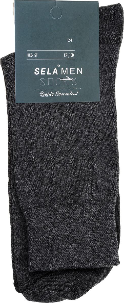 Носки мужские Sela, цвет: темно-серый меланж. SOb-254/017-7101. Размер 23/25SOb-254/017-7101Удобные мужские носки Sela, изготовленные из высококачественного материала. Благодаря содержанию мягкого хлопка в составе, кожа сможет дышать, а эластан позволяет носкам легко тянуться, что делает их комфортными в носке. Эластичная резинка на стандартном паголенке плотно облегает ногу, не сдавливая ее, обеспечивая комфорт и удобство.Уважаемые клиенты!Размер, доступный для заказа, является длиной стопы.