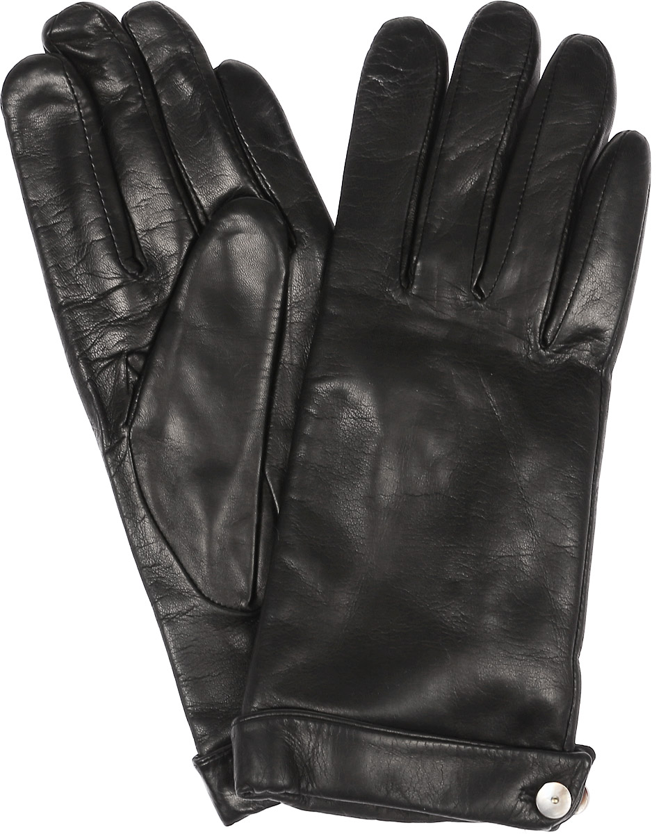 Перчатки женские Dali Exclusive, цвет: черный. 11_CAMICE. Размер 811_CAMICE/BLСтильные женские перчатки Dali Exclusive не только защитят ваши руки, но и станут великолепным украшением. Перчатки выполнены из натуральной кожи, а их подкладка - из высококачественной шерсти. Модель дополнена на запястье пуговицей.