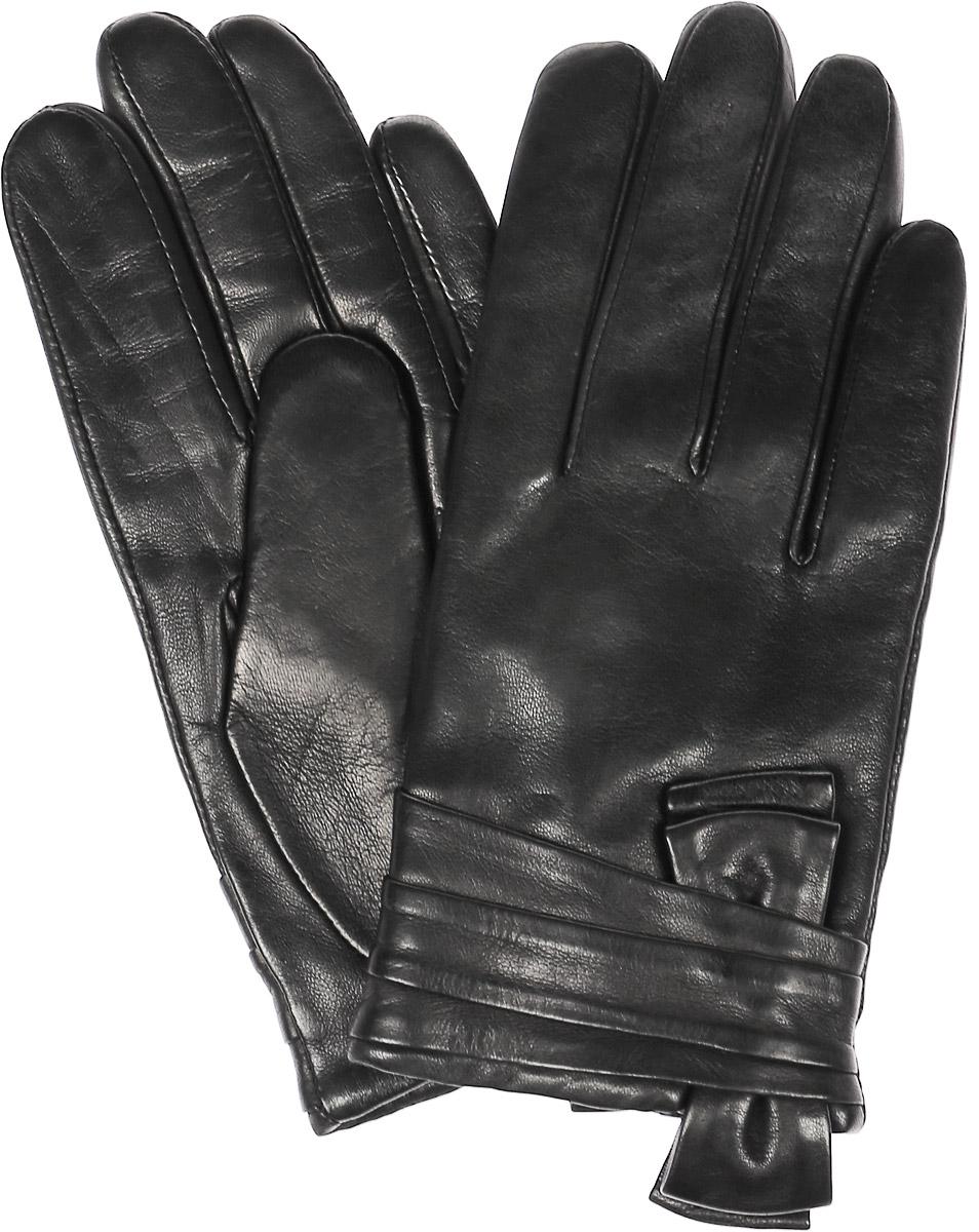 Перчатки женские Dali Exclusive, цвет: черный. 11_VALENTA. Размер 7,511_VALENTA/BLЖенские перчатки Dali Exclusive не только защитят ваши руки, но и станут великолепным украшением. Перчатки выполнены из натуральной кожи, а подкладка - из высококачественной шерсти. Модель оформлена декоративным бантом.