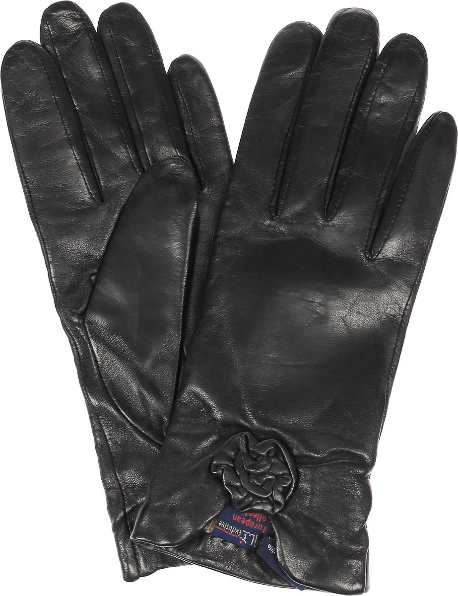 Перчатки женские Dali Exclusive, цвет: черный. 11_VALUCI. Размер 7,511_VALUCI/BLЖенские перчатки Dali Exclusive не только защитят ваши руки, но и станут великолепным украшением. Перчатки выполнены из натуральной кожи, а подкладка - из высококачественной шерсти. Модель оформлена декоративным бантиком.