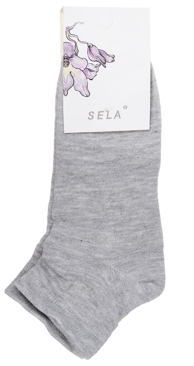 Носки женские Sela, цвет: серый меланж. SOb-154/047-7101. Размер 21/23SOb-154/047-7101Удобные женские носки Sela, изготовленные из высококачественного материала. Благодаря содержанию мягкого хлопка в составе, кожа сможет дышать, а эластан позволяет носкам легко тянуться, что делает их комфортными в носке. Эластичная резинка плотно облегает ногу, не сдавливая ее, обеспечивая комфорт и удобство.Уважаемые клиенты!Размер, доступный для заказа, является длиной стопы.