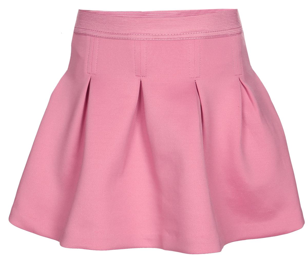 Юбка для девочки Sela, цвет: дымчато-розовый. SK-518/059-7110. Размер 116, 6-7 летSK-518/059-7110Короткая юбка-клеш для девочки Sela выполнена из плотного эластичного полиэстера. Юбка дополнена широкой эластичной резинкой на поясе и оснащена подъюбником из хлопка. Модель оформлена декоративными встречными складками.