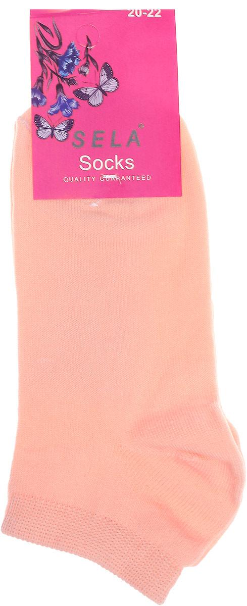 Носки для девочки Sela, цвет: светлый персик. SOb-4/070-7102. Размер 18/20SOb-4/070-7102Удобные детские носки Sela, изготовлены из комбинированного материала. Благодаря содержанию мягкого хлопка в составе, кожа сможет дышать, а эластан позволяет носочкам легко тянуться, что делает их комфортными в носке.Эластичная резинка плотно облегает ногу, не сдавливая ее,обеспечивая комфорт и удобство. Уважаемые клиенты!Размер, доступный для заказа, является длиной стопы.