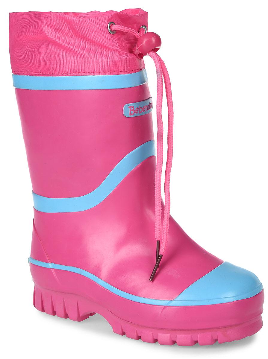 Сапоги резиновые детские Bebendorff, цвет: розовый, голубой. 1115506. Размер 28 (28,5)1115506Утепленные резиновые сапоги от Bebendorff - идеальная обувь в холодную дождливую погоду для вашего ребенка. Сапоги выполнены из качественной резины. Подкладка из шерсти с добавлением хлопка подарят ощущение комфорта и тепла вашему ребенку. Съемная стелька EVA с поверхностью из шерсти с добавлением хлопка комфортна при движении. Текстильный верх голенища регулируется в объеме за счет шнурка со стоппером. Подошва дополнена протектором.