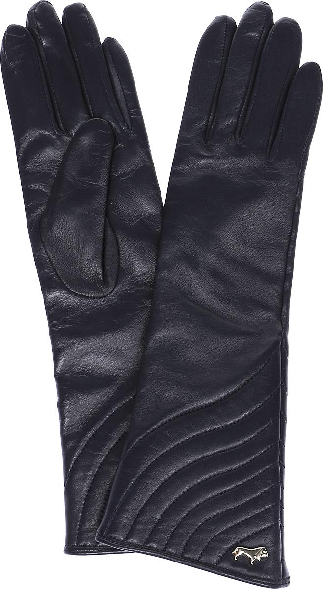 Перчатки женские Labbra, цвет: черный. LB-0308. Размер 6LB-0308Стильные женские перчатки Labbra выполнены из натуральной мягкой кожи. Удлиненная модель оформлена декоративной прострочкой и металлической пластинкой с логотипом бренда. Внутренняя поверхность выполнена из шерсти и акрила, которые обеспечат тепло и комфорт.
