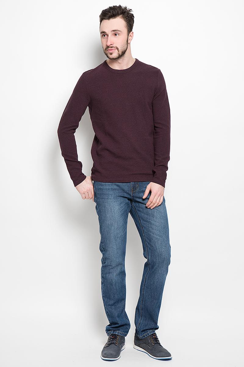 Пуловер мужской Selected Homme Identity, цвет: бордовый. 16051696. Размер S (44)16051696_FudgeМужской пуловер Selected Homme изготовлен из хлопка с добавлением эластана. Модель с длинными рукавами имеет круглый вырез горловины. Благодаря однотонной расцветке, пуловер прекрасно сочетается с любыми нарядами.