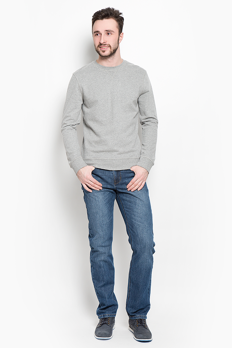 Свитшот мужской Selected Homme Indigo, цвет: серый. 16053566. Размер XXL (52) selected homme куртка