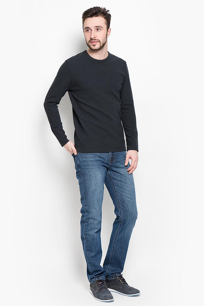 Пуловер мужской Selected Homme Identity, цвет: черный. 16051696. Размер XL (50)16051696_AntracitМужской пуловер Selected Homme изготовлен из хлопка с добавлением вискозы и эластана. Модель с длинными рукавами имеет круглый вырез горловины. Благодаря однотонной расцветке, пуловер прекрасно сочетается с любыми нарядами.
