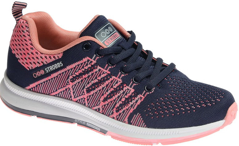 Кроссовки женские Strobbs, цвет: розовый, черный. F6503-11. Размер 36F6503-11Стильные мужские кроссовки Strobbs отлично подойдут для активного отдыха и повседневной носки. Верх модели выполнен из текстиля по бесшовной технологии. Удобная шнуровка надежно фиксирует модель на стопе. Подошва обеспечивает легкость и естественную свободу движений. Мягкие и удобные, кроссовки превосходно подчеркнут ваш спортивный образ и подарят комфорт.