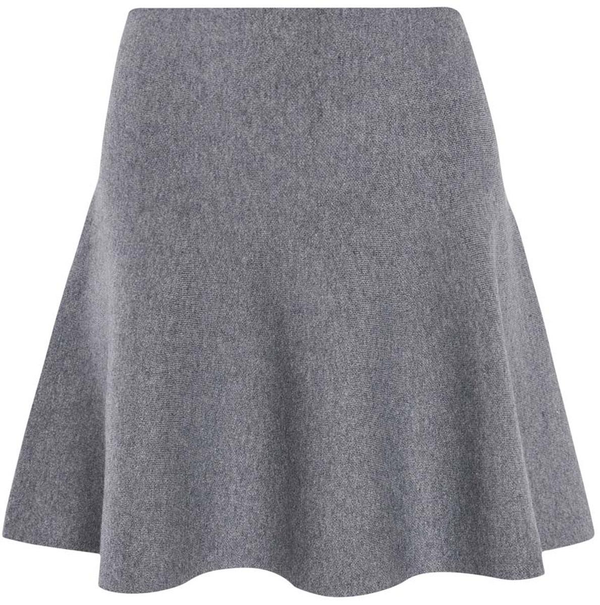 Юбка oodji Ultra, цвет: темно-серый меланж. 63612030/46096/2500M. Размер L (48)63612030/46096/2500MСтильная юбка-клеш выполнена из высококачественного материала.