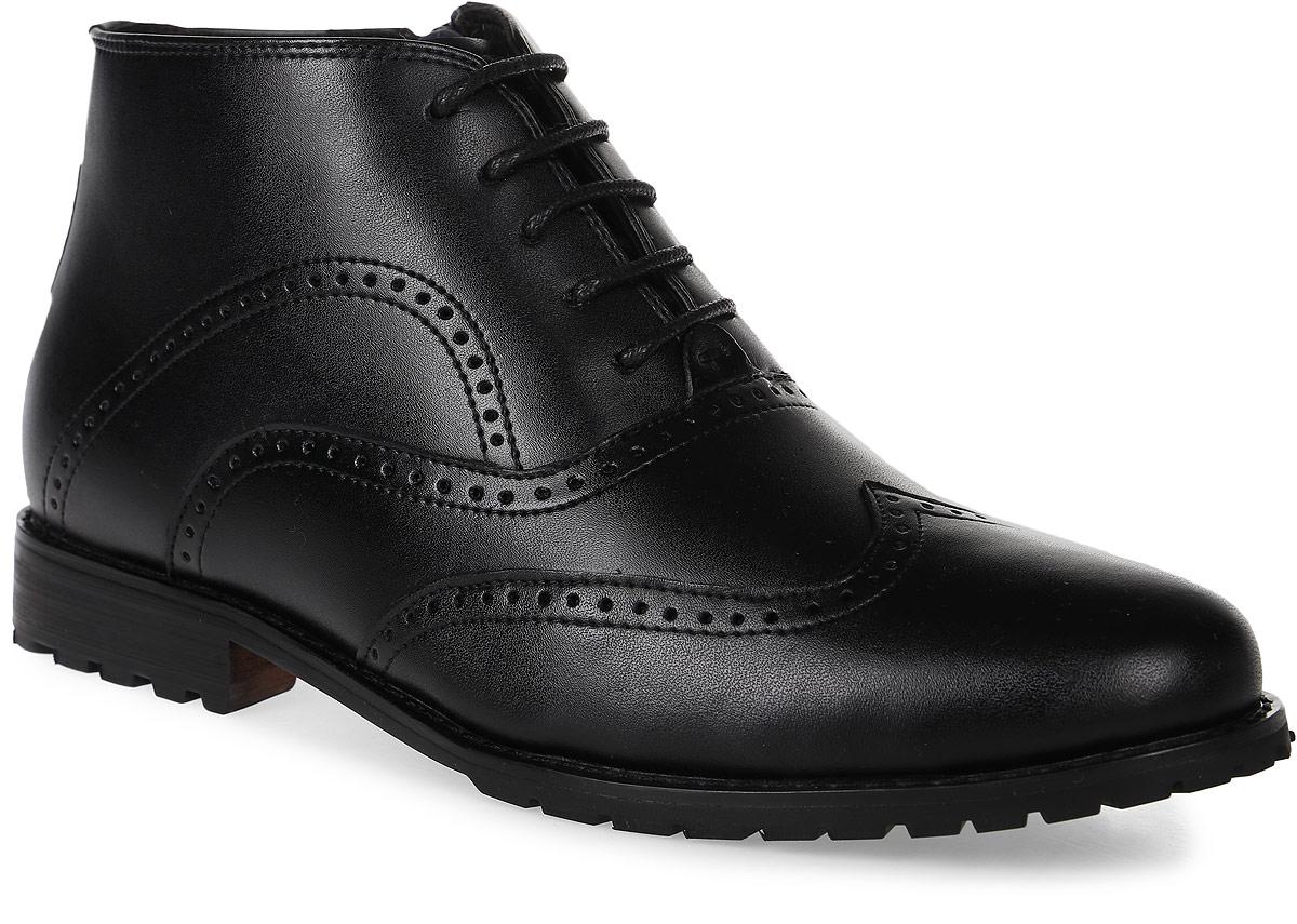 Ботинки для мальчика Vitacci, цвет: черный. 20532-3. Размер 3720532-3Стильные ботинки для мальчика от Vitacci выполнены из натуральной кожи и оформлены декоративной перфорацией. Боковая застежка-молния позволяет легко снимать и надевать модель. Шнуровка надежно зафиксирует модель на ноге. Подкладка и стелька из натурального меха не дадут ногам замерзнуть. Подошва и каблук дополнены рифлением.