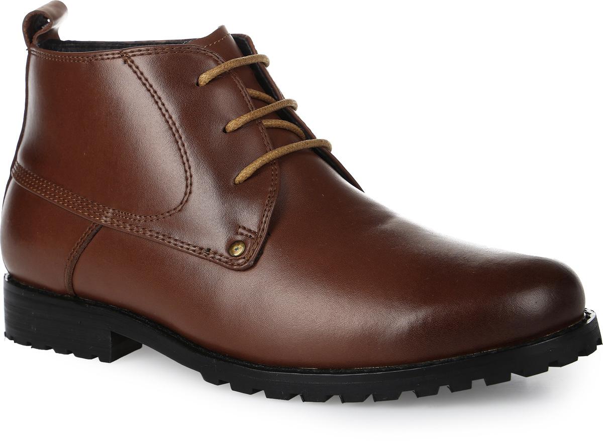 Ботинки для мальчика Vitacci, цвет: рыже-коричневый. 20528-8. Размер 3720528-8Стильные ботинки для мальчика от Vitacci выполнены из натуральной кожи. Шнуровка надежно зафиксирует модель на ноге. Подкладка и стелька из натурального меха не дадут ногам замерзнуть. Подошва и каблук дополнены рифлением.