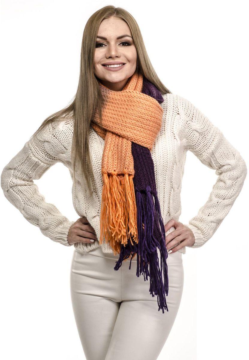 Шарф женский Moltini, цвет: оранжевый. 191V-1716. Размер 190 см х 40 см191V-1716Женский шарф от торговой марки Moltini производства Италия из шерсти и акрила, станет приятной покупкой или презентом другу. Данные шарфы марки Moltini прекрасно дополнят ваш «лук» и преподнесут вас в выгодном свете и на презентации и на улице. Дизайн шарфов выверен до мелочей. Все части внимательно подобраны и хорошо смотрятся друг с другом. Современные шарфы Moltini станут верным решением для вашего гардероба.