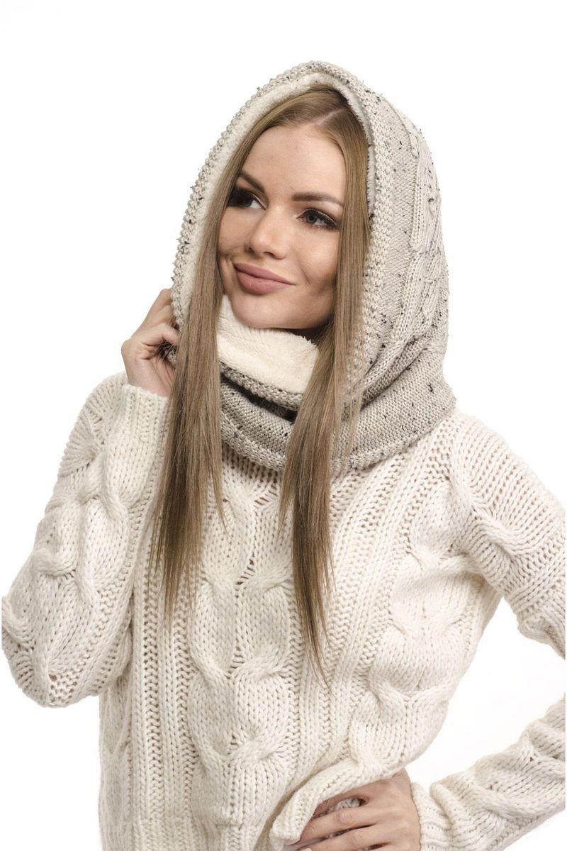 Снуд-хомут женский Moltini, цвет: серый. 161K-1603. Размер универсальный161K-1603Стильный вязаный снуд-хомут от Moltini, выполненный из шерсти и акрила, создан подчеркнуть ваш неординарный вкус и согреть вас в прохладное время года.