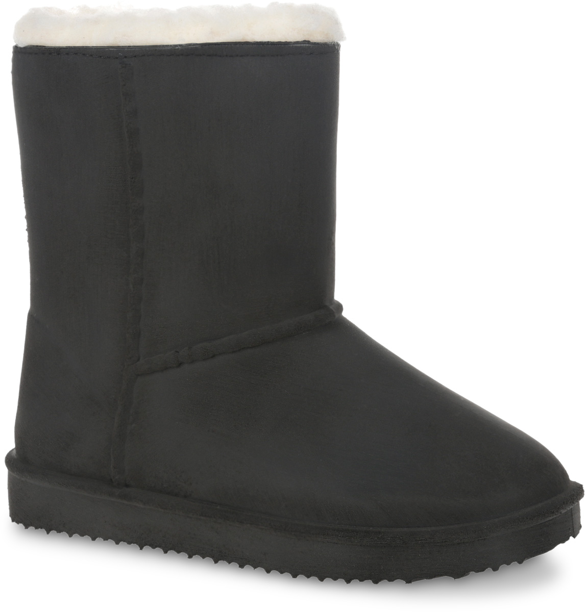 Угги для девочки Зебра, цвет: черный. 11401-1. Размер 3511401-1Удобные детские угги для девочки Зебра выполнены из ПВХ. Подкладка и стелька из шерсти защитят ноги от холода и обеспечат комфорт. В таких уггах ножкам ребенка будет уютно и комфортно!