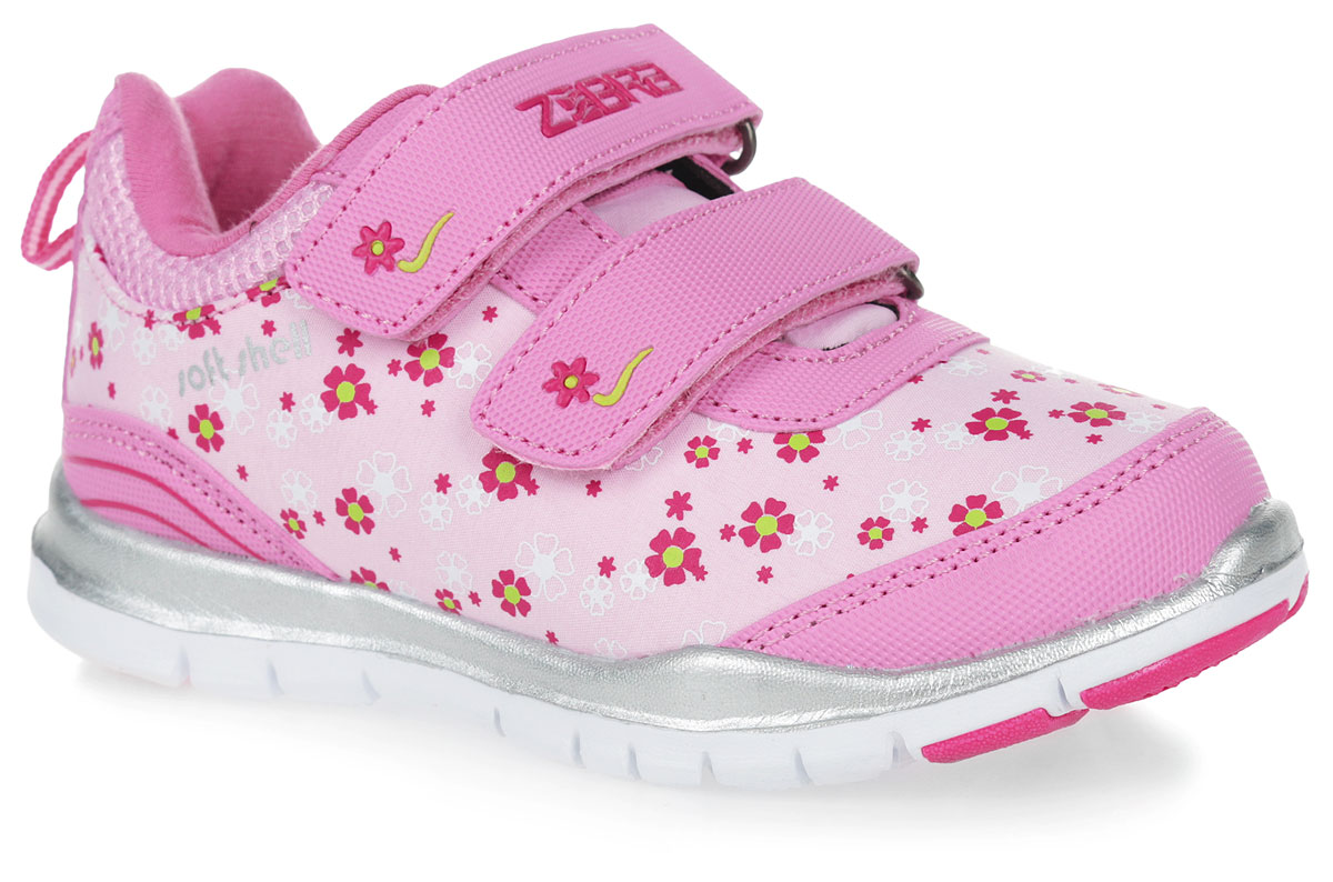 Кроссовки для девочки Зебра, цвет: розовый. 10164-9. Размер 3110164-9Кроссовки от фирмы Зебра выполнены из искусственной кожи и дышащего текстиля. Застежки-липучки обеспечивают надежную фиксацию обуви на ноге ребенка. Подкладка выполнена из текстиля, что предотвращает натирание и гарантирует уют. Стелька с поверхностью из натуральной кожи оснащена небольшим супинатором с перфорацией, который обеспечивает правильное положение ноги ребенка при ходьбе и предотвращает плоскостопие. Подошва с рифлением обеспечивает идеальное сцепление с любыми поверхностями.