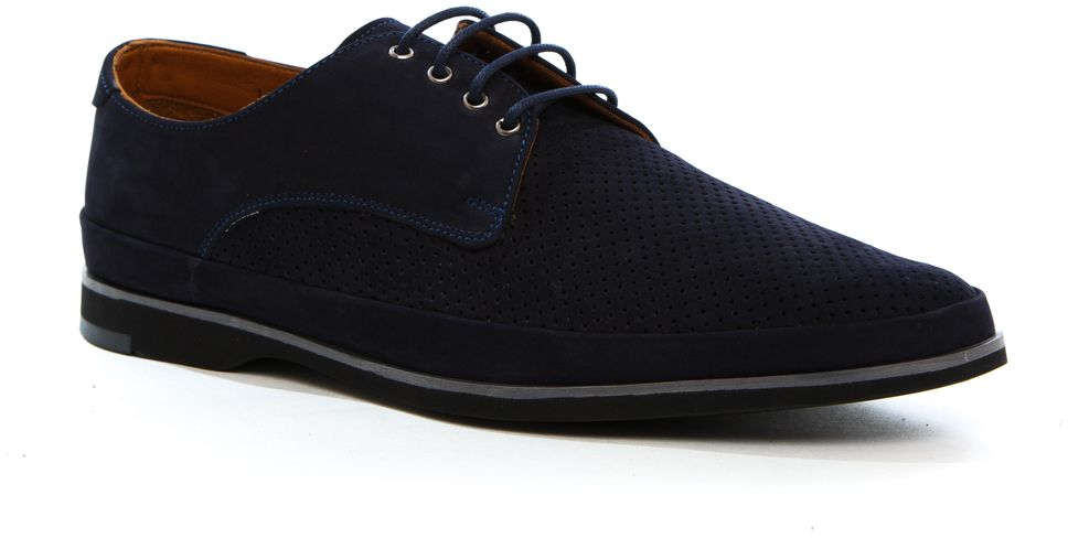 Полуботинки мужские Milana, цвет: синий. 161757-1-1501. Размер 45161757-1-1501Стильные мужские полуботинки Milana - отличный вариант на каждый день. Модель выполнена из нубука. Шнуровка надежно фиксирует обувь на ноге. Резиновая подошва с протектором гарантирует отличное сцепление с поверхностью. В таких ботинках вашим ногам будет комфортно и уютно. Они подчеркнут ваш стиль и индивидуальность.