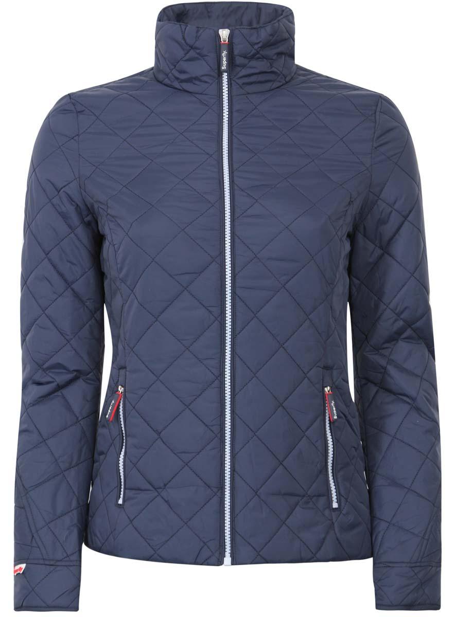 Куртка женская oodji Ultra, цвет: темно-синий. 10204026-2B/33744/7900N. Размер 34-164 (40-164)10204026-2B/33744/7900NЖенская куртка oodji Ultra выполнена из 100% полиамида. В качестве подкладки и утеплителя используется 100% полиэстер. Модель с воротником-стойкой и длинными рукавами застегивается на застежку-молнию. Спереди расположено два прорезных кармана на застежке-молнии.