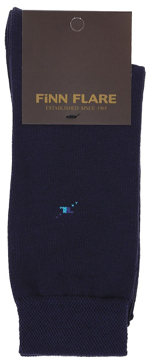 Носки мужские Finn Flare, цвет: темно-синий. B17-21119_101. Размер XL (43/44)B17-21119_101Мужские носки Finn Flare изготовлены из высококачественного эластичного хлопка с добавлением полиамида. Удлиненные носки имеют эластичную резинку, которая надежно фиксирует изделие на ноге.