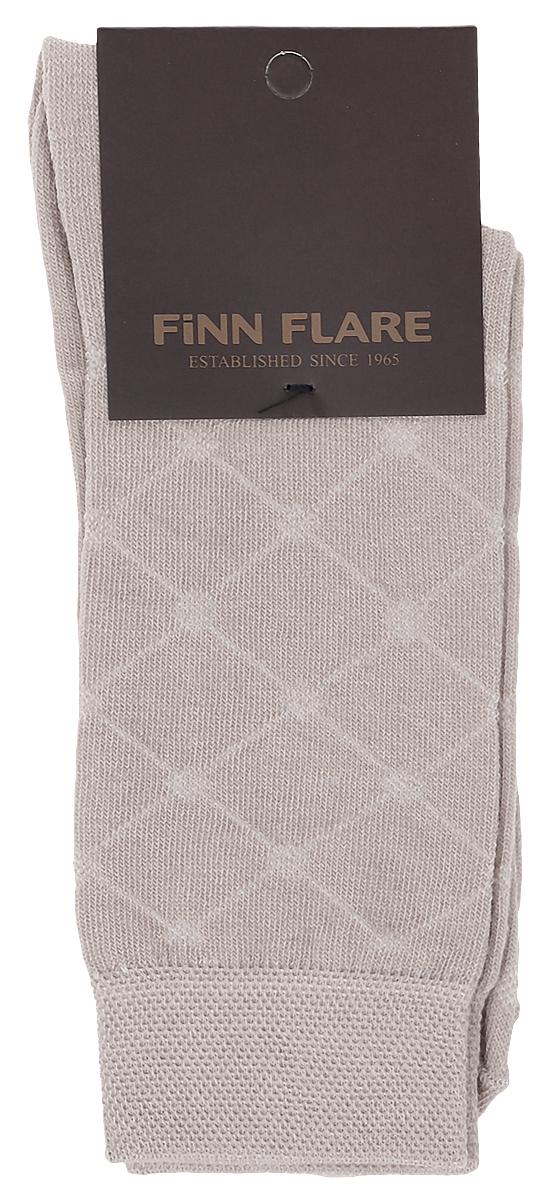 Носки мужские Finn Flare, цвет: бежевый. B17-21116_703. Размер L (41/42)B17-21116_703Мужские носки Finn Flare изготовлены из высококачественного эластичного хлопка с добавлением полиамида. Удлиненные носки имеют эластичную резинку, которая надежно фиксирует изделие на ноге.
