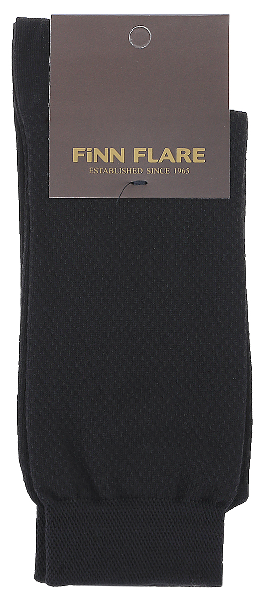 Носки мужские Finn Flare, цвет: черный. B17-21113_200. Размер XL (43/44)B17-21113_200Мужские носки Finn Flare изготовлены из высококачественного эластичного хлопка с добавлением полиамида. Удлиненные носки имеют эластичную резинку, которая надежно фиксирует изделие на ноге.