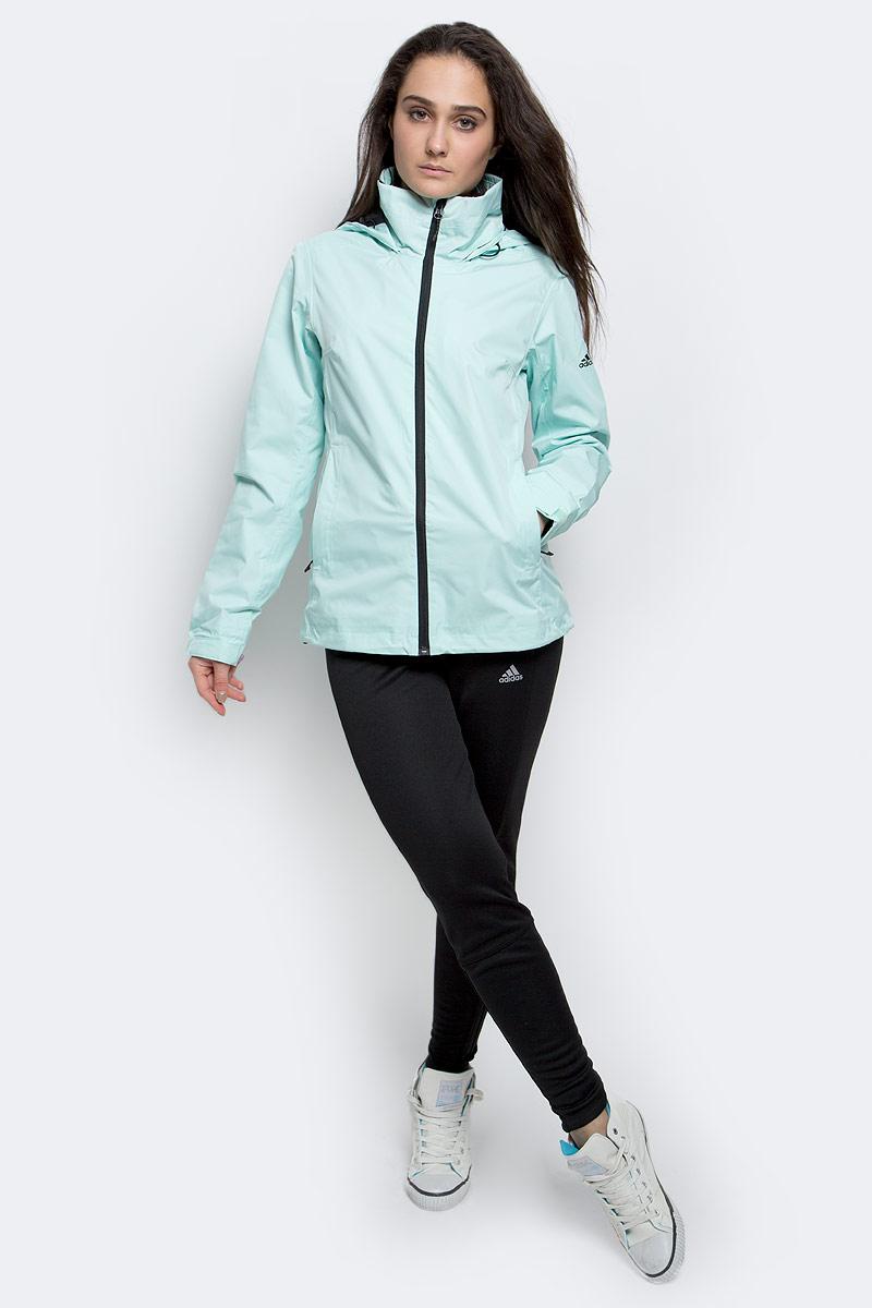 Куртка женская adidas W Wantertag 2L, цвет: мятный. AP8711. Размер 36 (42)AP8711Куртка женская предназначена для экстремальных погодных условий, на открытом воздухе. Модель для женщин производится с CLIMAPROOF для дышащей, водонепроницаемой и ветрозащитной защиты. Есть внутренний карман, чтобы держать мелкие вещи под рукой.