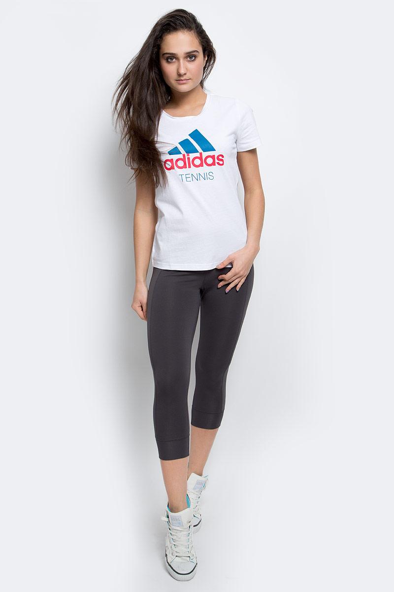Тайтсы для бега женские adidas Ak 3/4 Tghts W, цвет: черный. AX5893. Размер L (48/50)AX5893Удобные женские тайтсы Adidas Ak 3/4 Tghts W для бегаизготовлены из высококачественного эластичного материала, они великолепно тянутся, не сковывают движения, обеспечивают необходимую циркуляцию воздуха и превосходно отводят влагу от тела, оставляя кожу сухой и обеспечивая наибольший комфорт.