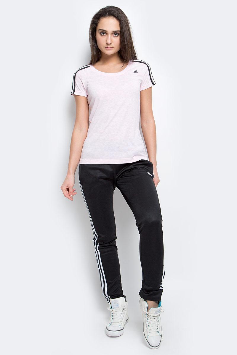 Брюки спортивные женские adidas Europa Tp, цвет: черный. AJ8444. Размер 36 (42)AJ8444Спортивные брюки подойдут как для спорта так и для повседневной носки. Модель выполнена из высококачественного материала. Брюки дополнены двумя боковыми карманами.