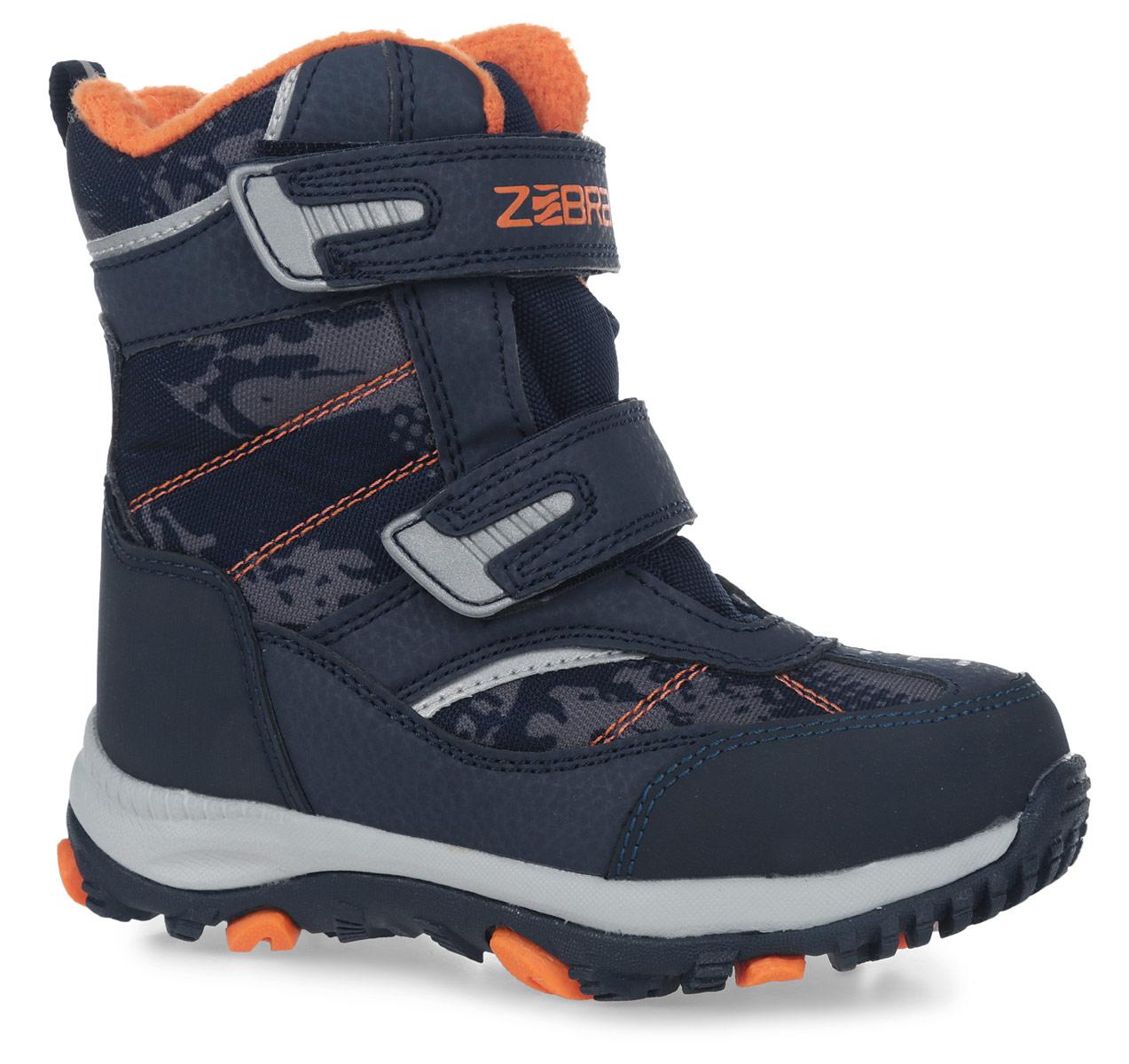 Полусапоги детские Зебра, цвет: синий. 11020-5. Размер 2811020-5Полусапоги от Зебра выполнены из искусственной кожи и текстиля. Застежки-липучки надежно фиксируют изделие на ноге. Мягкая подкладка и стелька из шерсти обеспечивают тепло, циркуляцию воздуха и сохраняют комфортный микроклимат в обуви.