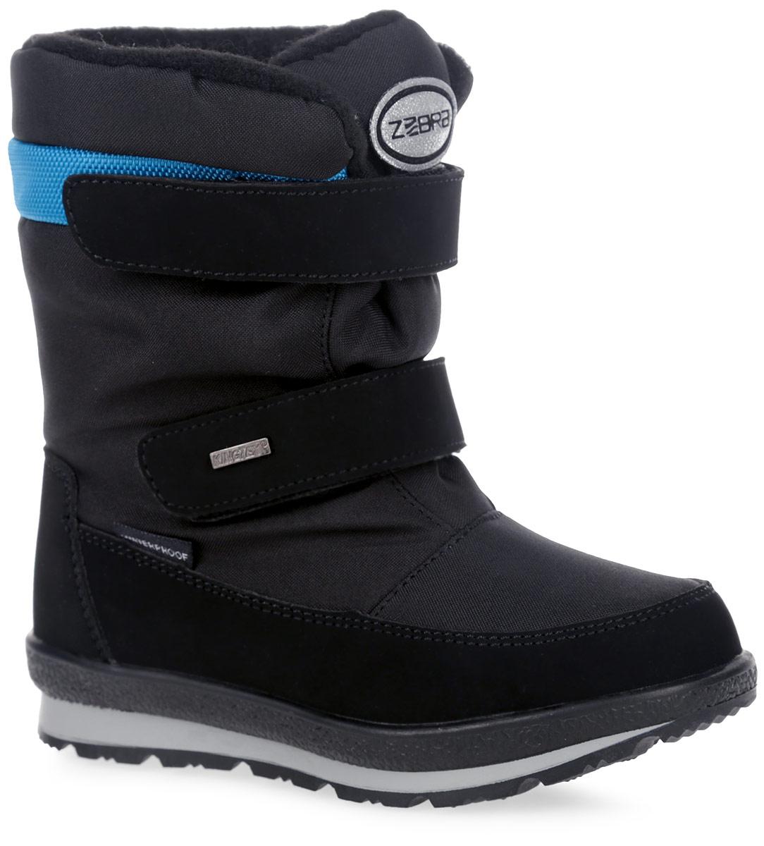 Полусапоги детские Зебра, цвет: черный. 11048-1. Размер 3311048-1Полусапоги от Зебра выполнены из текстиля и искусственных материалов. Застежки-липучки надежно фиксируют изделие на ноге. Мягкая подкладка и стелька из шерсти обеспечивают тепло, циркуляцию воздуха и сохраняют комфортный микроклимат в обуви.