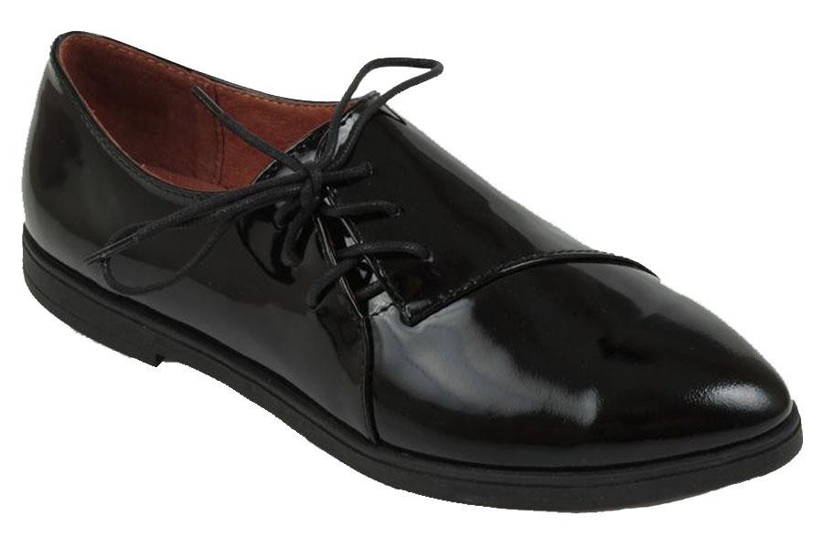 Полуботинки женские Spur, цвет: черный. 23SI_289. Размер 3823SI_289Оригинальные женские полуботинки от Spur покорят вас своим дизайном и удобством! Модель выполнена из натуральной кожи. Шнуровка обеспечивает надежную фиксацию обуви на ноге. Мягкая стелька из натуральной кожи с отверстиями позволяет вашим ногам дышать. Резиновая подошва с рельефной поверхностью обеспечивает отличное сцепление с любыми поверхностями.