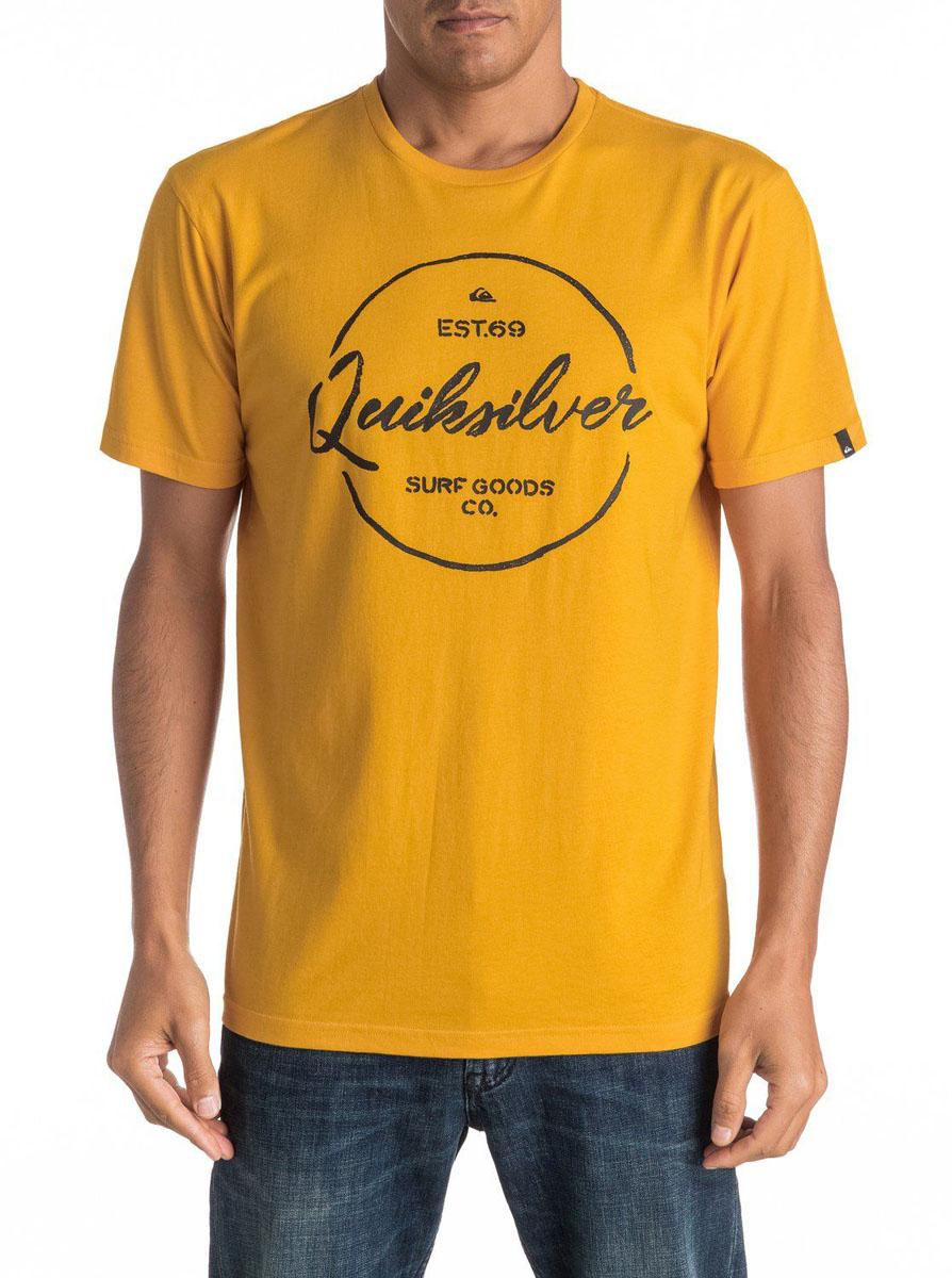 Футболка мужская Quiksilver, цвет: желтый. EQYZT04309-YKS0. Размер L (52)EQYZT04309-YKS0Мужская футболка Quiksilver изготовлена из качественного материала. Модель выполнена с круглой горловиной и короткими рукавами.