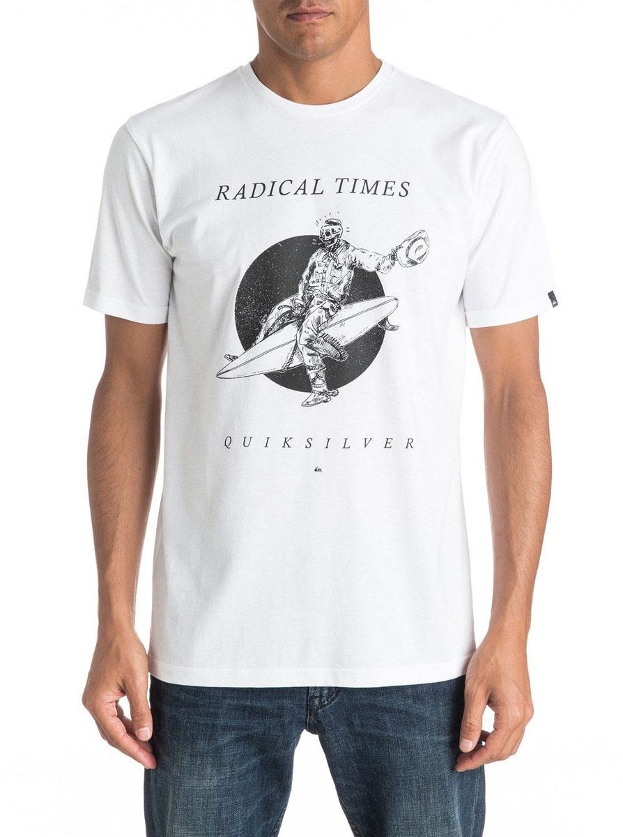 Футболка мужская Quiksilver, цвет: белый. EQYZT04308-WBB0. Размер L (52)EQYZT04308-WBB0Мужская футболка Quiksilver изготовлена из качественного материала. Модель выполнена с круглой горловиной и короткими рукавами.