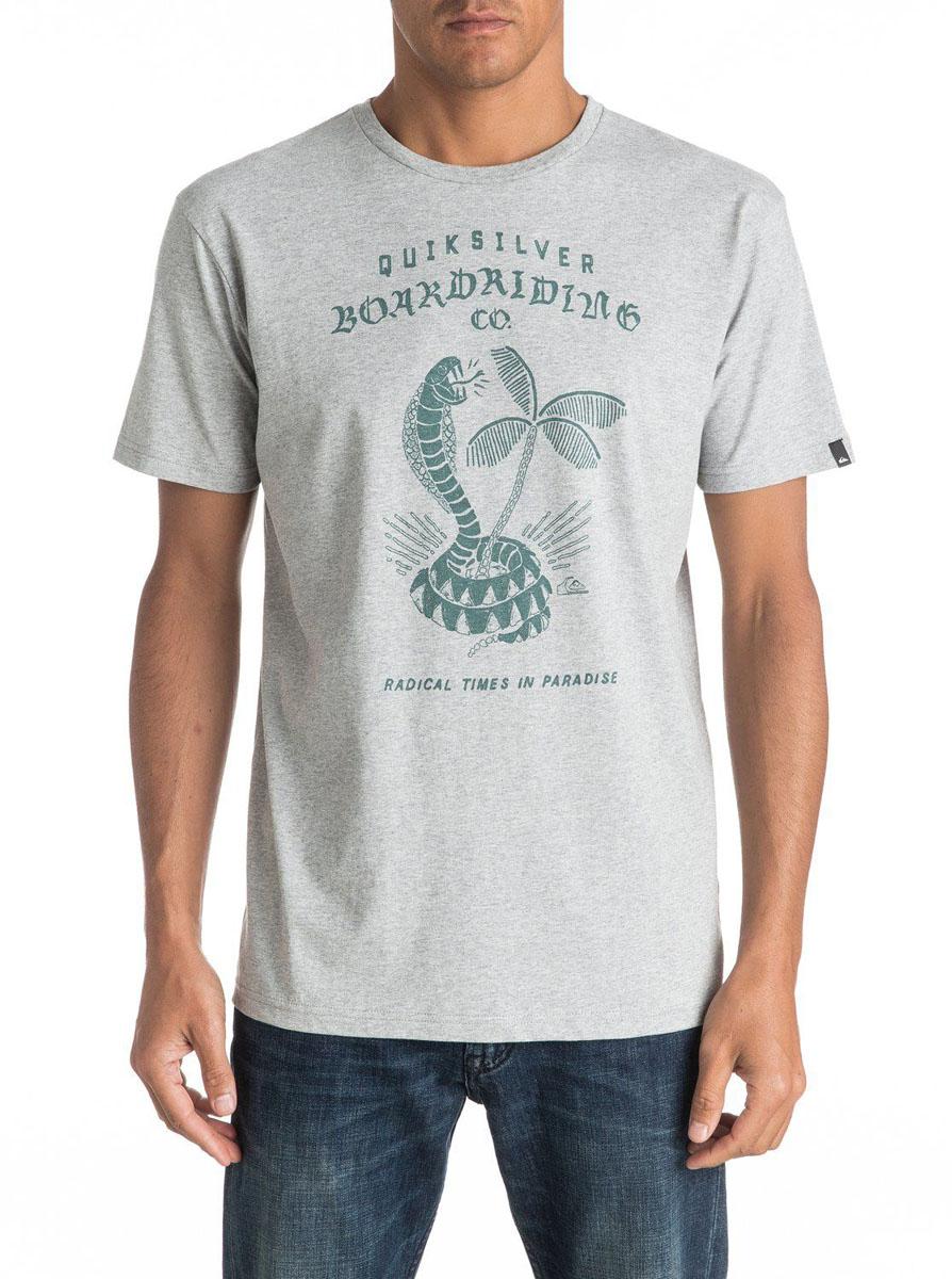 Футболка мужская Quiksilver, цвет: серый. EQYZT04307-SGRH. Размер L (52)EQYZT04307-SGRHМужская футболка Quiksilver изготовлена из качественного материала. Модель выполнена с круглой горловиной и короткими рукавами.