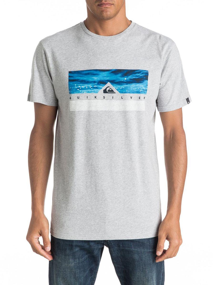 Футболка мужская Quiksilver, цвет: светло-серый. EQYZT04284-SGRH. Размер L (52)EQYZT04284-SGRHМужская футболка Quiksilver изготовлена из качественного материала. Модель выполнена с круглой горловиной и короткими рукавами.