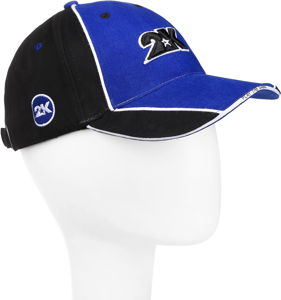 Бейсболка 2K Sport Dimaro, цвет: черный, синий, белый. 124223. Размер 58/60124223_black/royal/whiteБейсболка 2K Sport Dimaro выполнена из натурального хлопка и имеет классическую панельную конструкцию. Модель с плотным козырьком оформлена объемными фирменными вышивками. Бейсболка имеет небольшие отверстия, обеспечивающие дополнительную вентиляцию. Объем бейсболки регулируется при помощи хлястика с металлической застежкой-фиксатором, оформленной гравировкой.